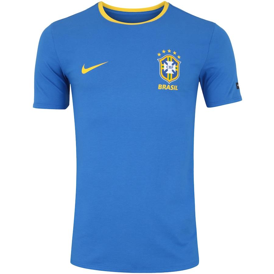 e3bf4ffec7 Camiseta da Seleção Brasileira 2018 Crest Nike - Masculina