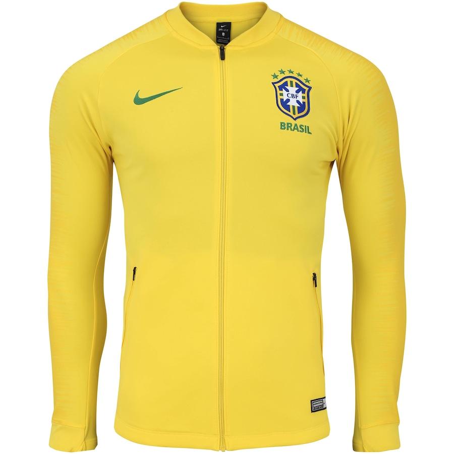 15e4463aaaf Jaqueta da Seleção Brasileira 2018 Hino Nike - Masculina