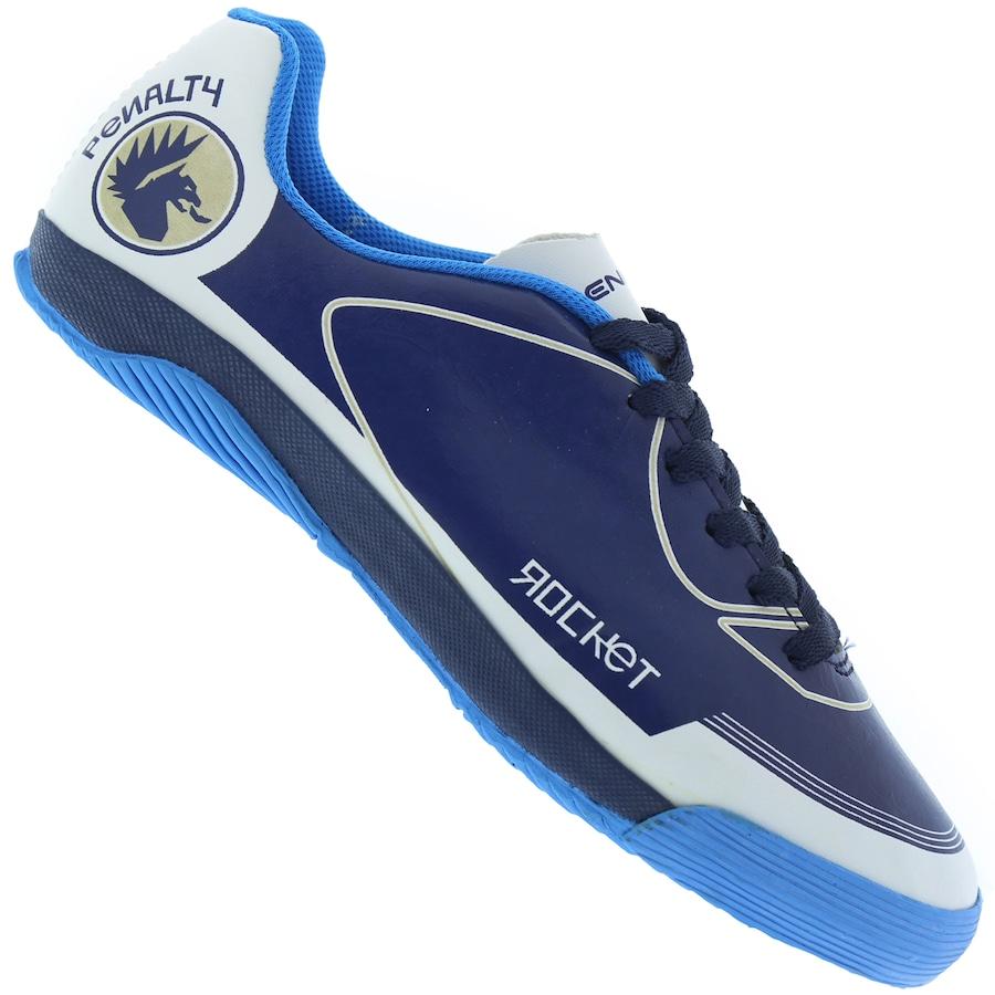 2fe11ea653 Chuteira Futsal Penalty Rocket VIII IC + Cartela de Adesivos - Infantil