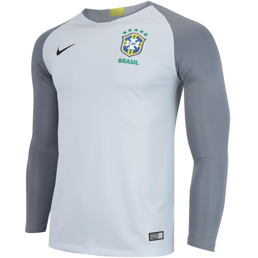 31cf3c2fcd Camisa de Goleiro da Seleção Brasileira 2018 Nike - Masculina