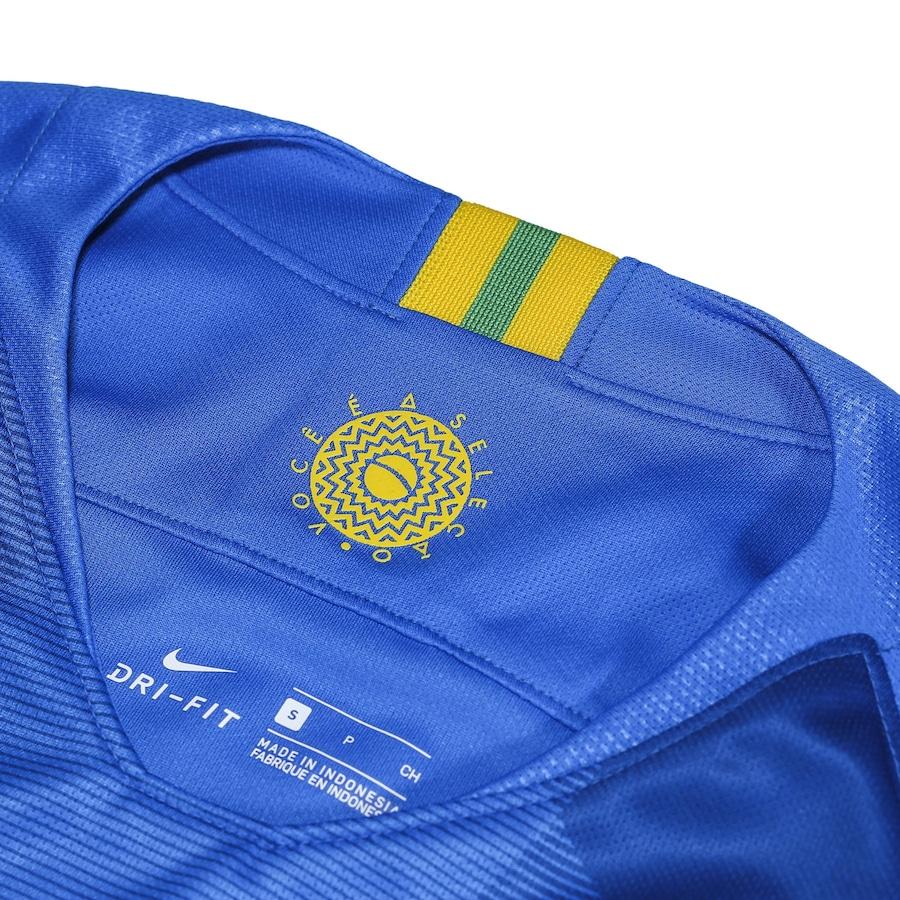 Camisa da Seleção Brasileira II 2018 Nike - Masculina 7ce82be00105f