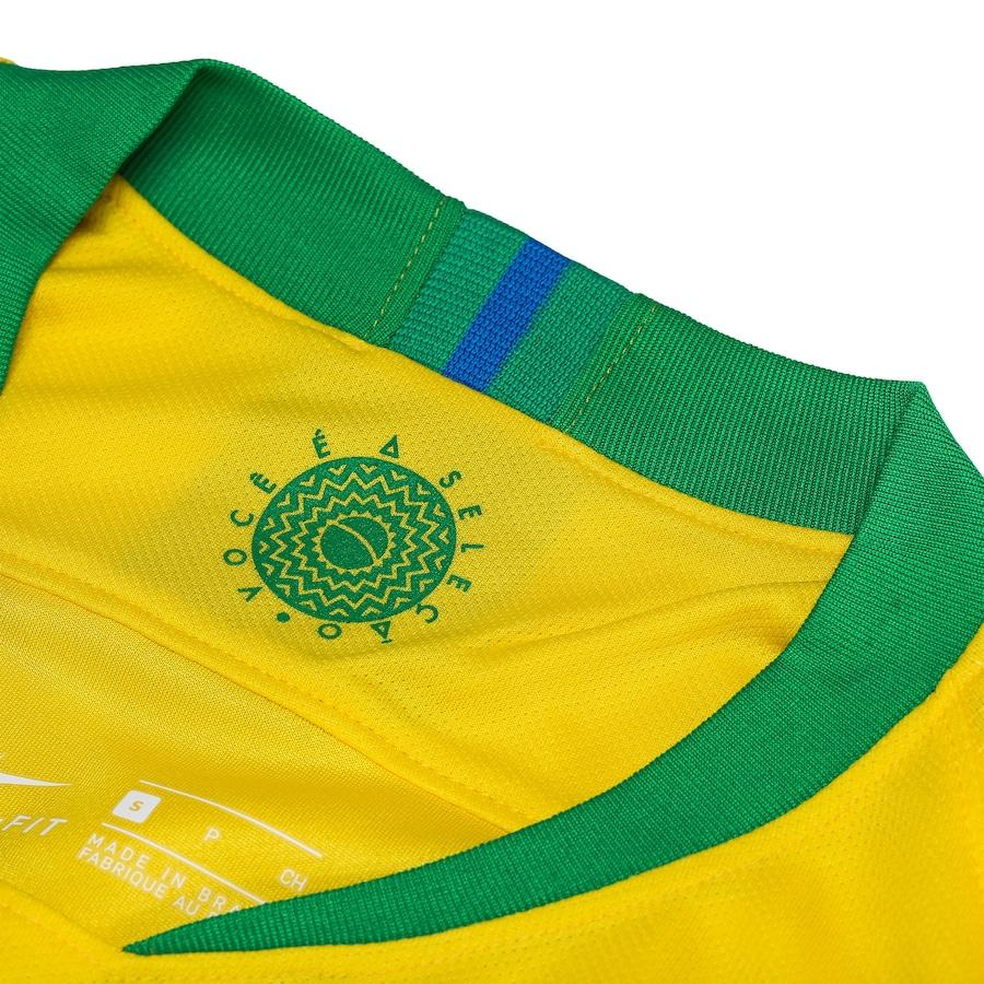 c0f004b00d Camisa da Seleção Brasileira I 2018 Nike - Masculina bb79abcc1d0995 ...