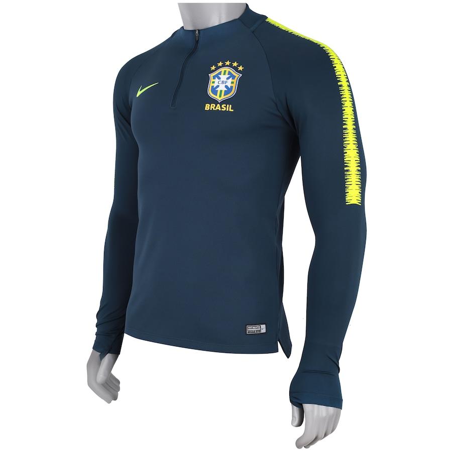 Blusão de Treino da Seleção Brasileira 2018 Nike - Masculino 79bb030ea894e