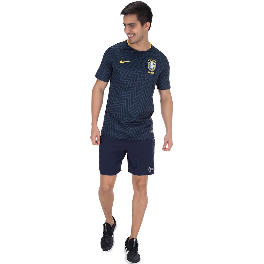 8469349e8cdd5 Camisa Pré-Jogo da Seleção Brasileira 2018 Nike - Masculina