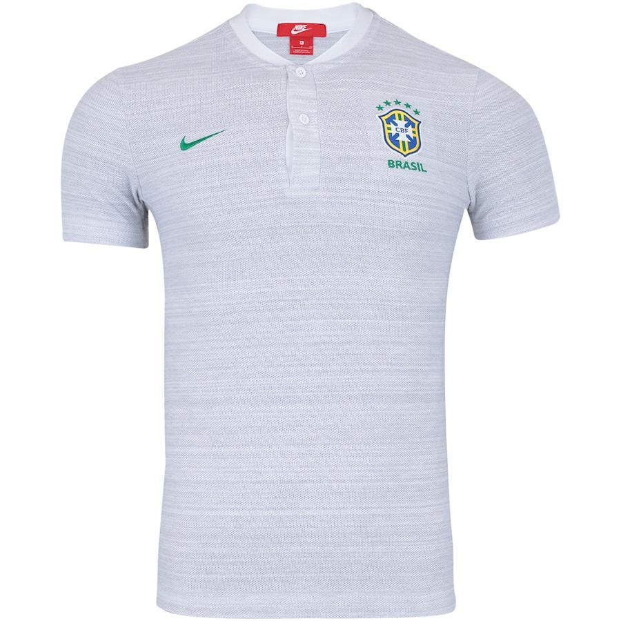 Camisa Polo da Seleção Brasileira 2018 Nike Pique - Masculina 5c9b6a322e783