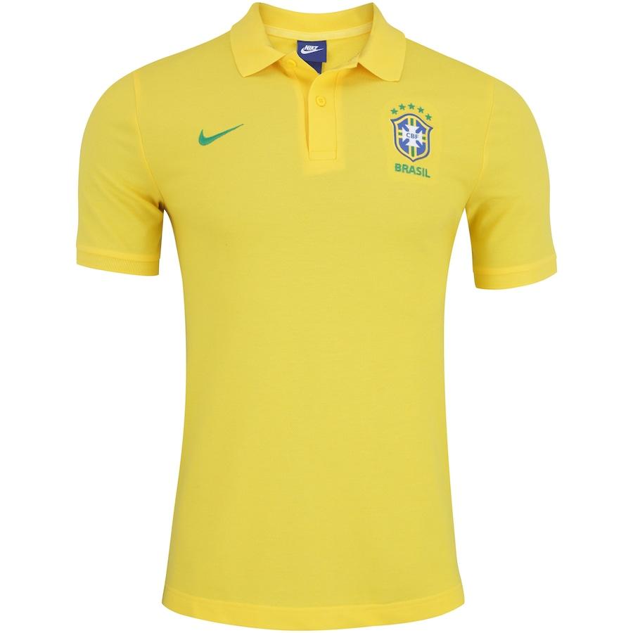 Camisa Polo da Seleção Brasileira 2018 Nike Sportswear Crew - Masculina 3d57e06c6eb19