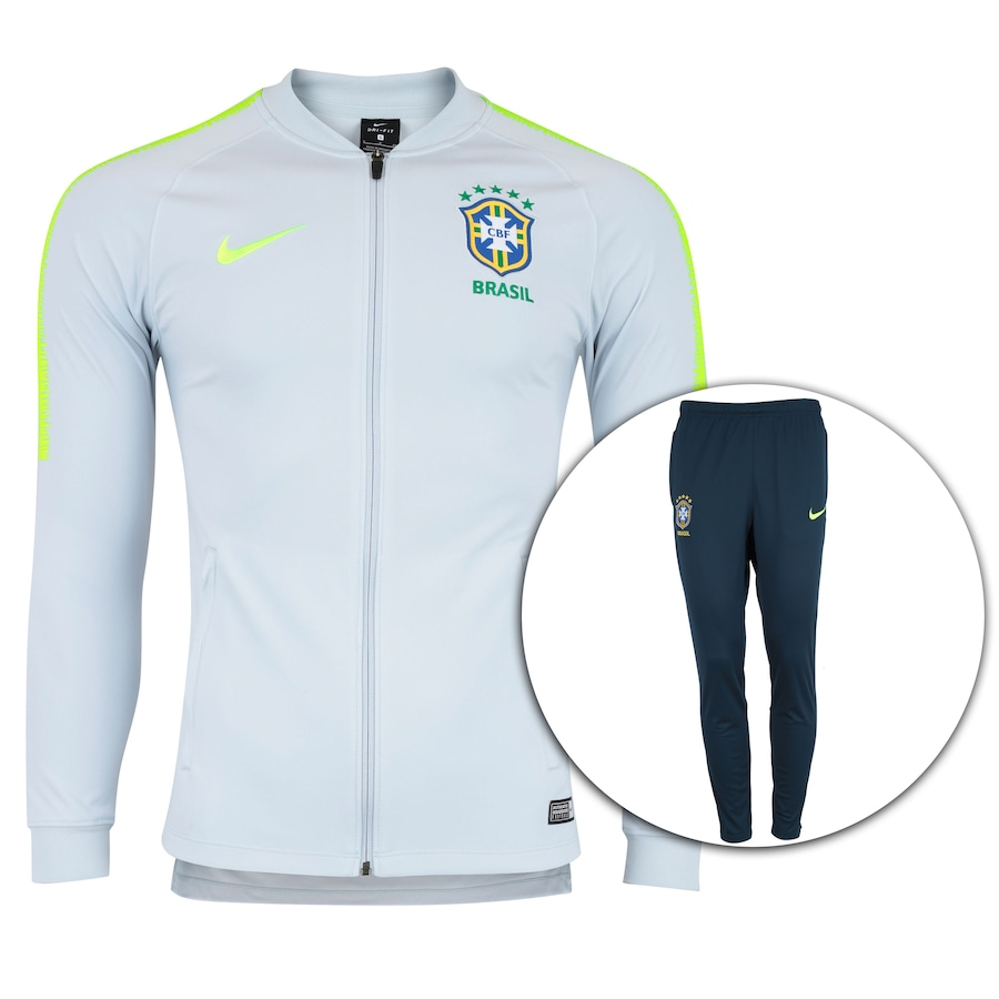 37d40489d Agasalho de Treino da Seleção Brasileira 2018 Nike - Masculino