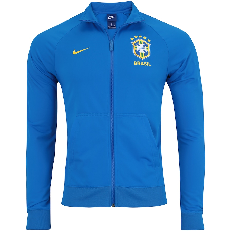 b95ad1e5d4b53 Jaqueta da Seleção Brasileira 2018 Nike Sportswear Crew - Masculina
