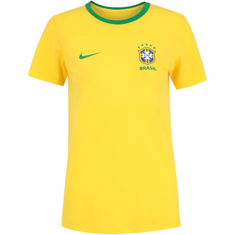 84759f1721 Camiseta da Seleção Brasileira 2018 Crest Nike - Feminina