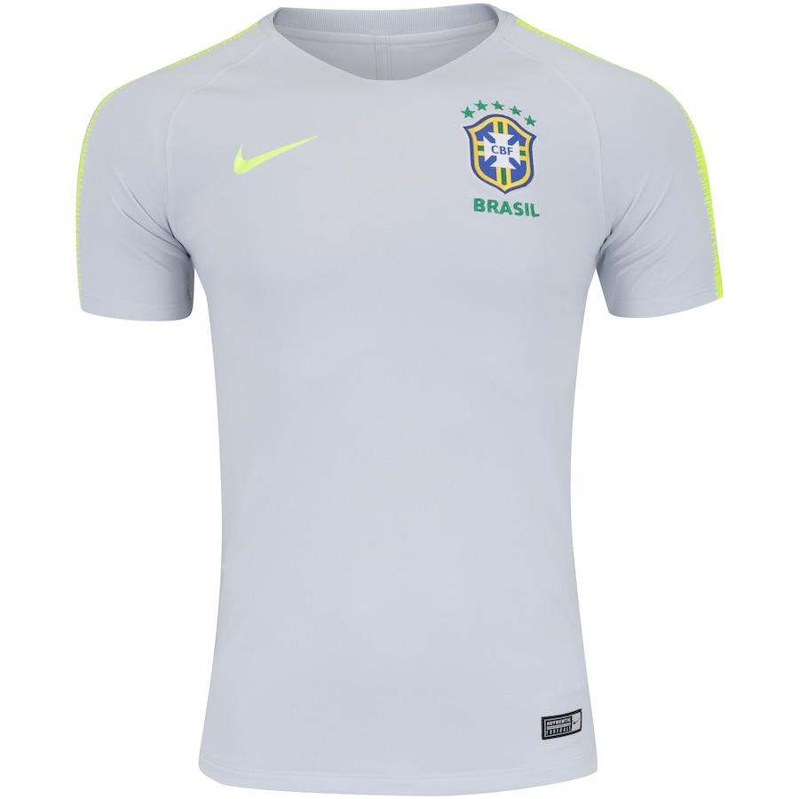 Camisa de Treino Breathe da Seleção Brasileira 2018 Nike - Masculina a4badbe5bde7a