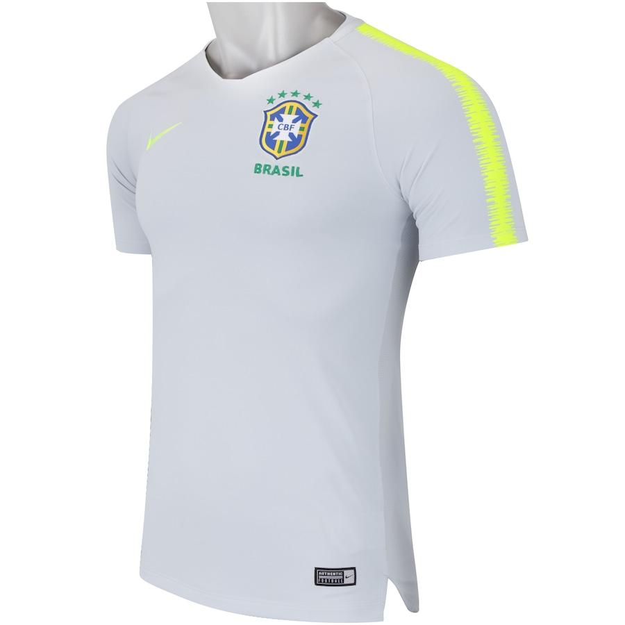 1a28b7a6e386c Camisa de Treino Breathe da Seleção Brasileira 2018 Nike - Masculina