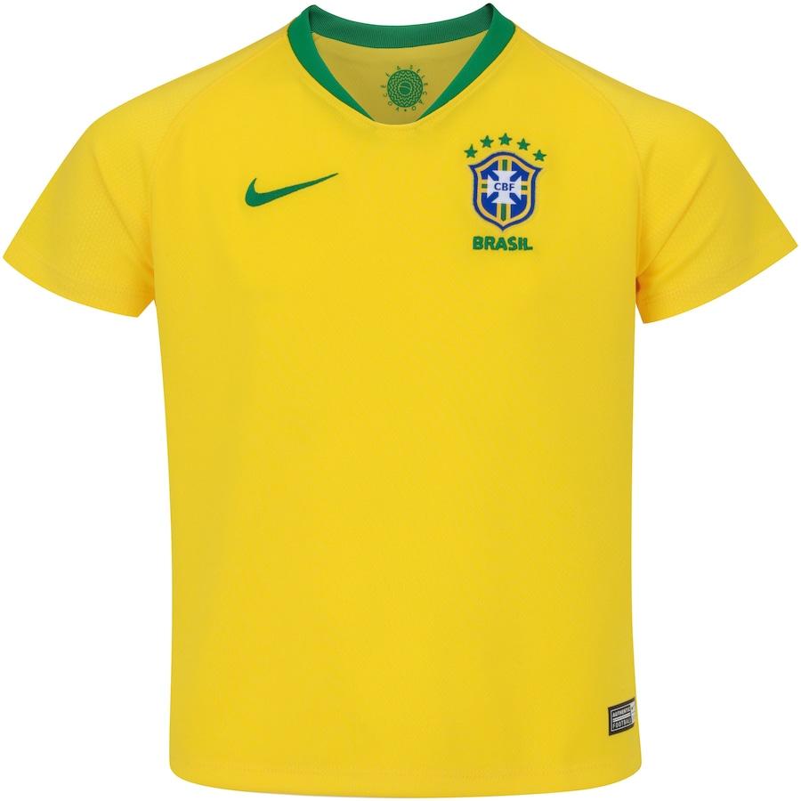 eff6f8dc32179 Camisa da Seleção Brasileira I 2018 Nike - Infantil