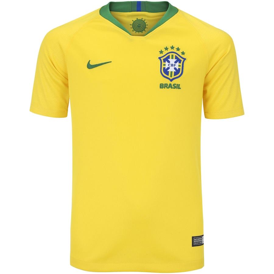 Camisa da Seleção Brasileira I 2018 Nike - Juvenil 8c6486e2cded4