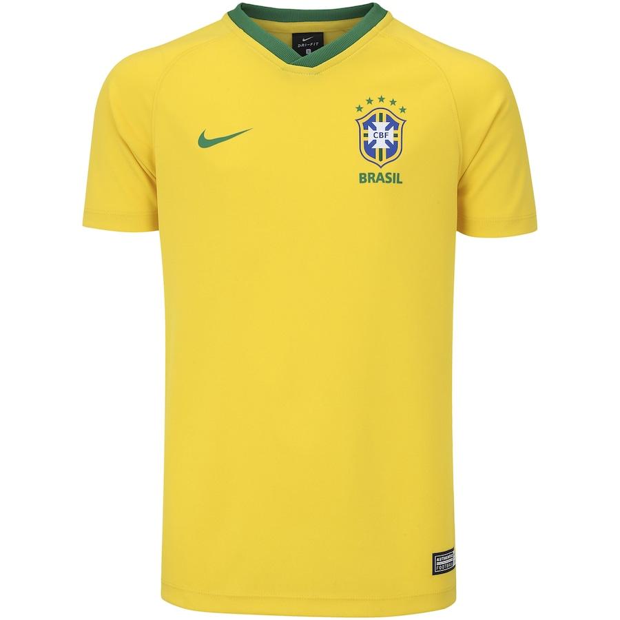 Camisa da Seleção Brasileira I 2018 Nike Torcedor - Juvenil 4e823be2b1b83