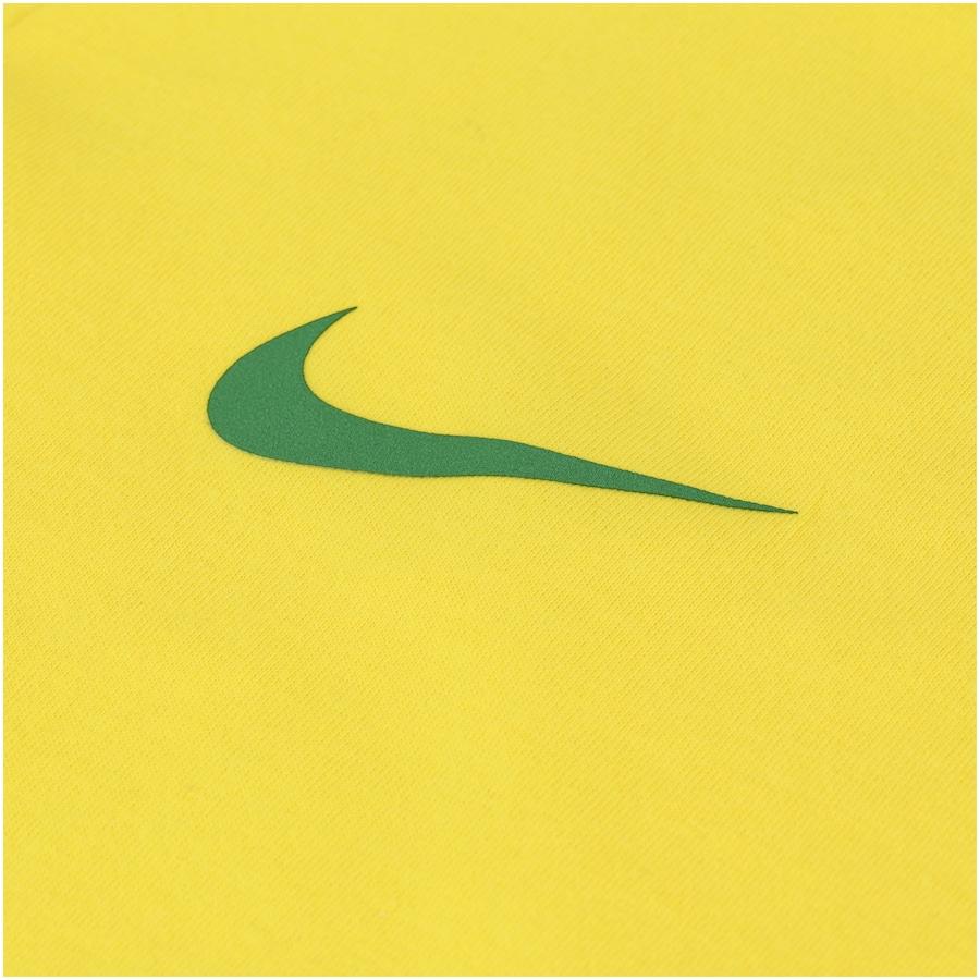 Camiseta da Seleção Brasileira 2018 Crest Nike - Juvenil 97e5ab00024