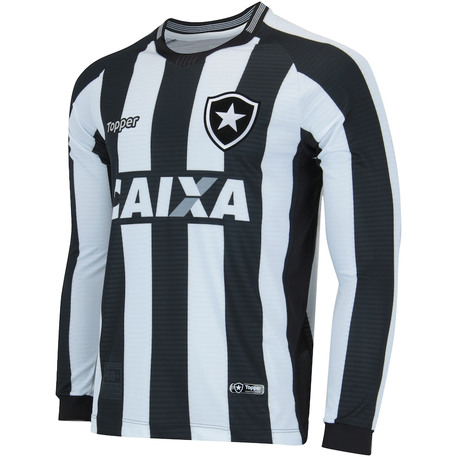 Camisa Manga Longa do Botafogo I 2018 Topper - Masculina 553a02a64bae1