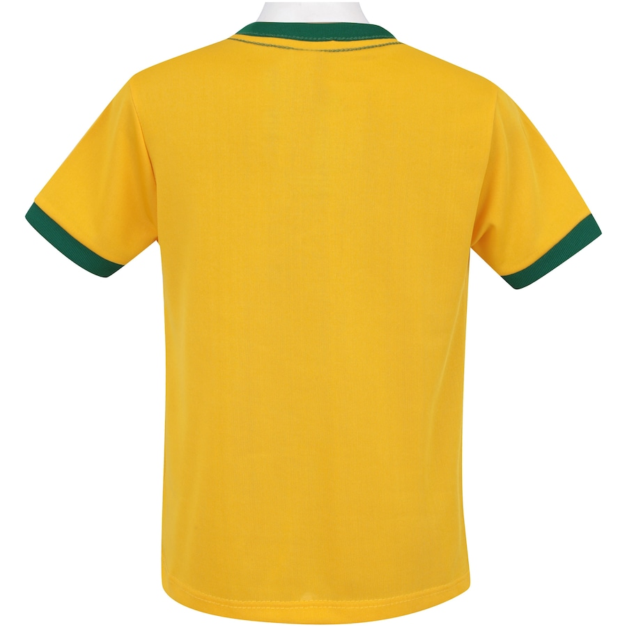 8d257afc0 Kit de Uniforme de Futebol do Brasil 2018 Adams 01  Camisa + Calção -  Infantil