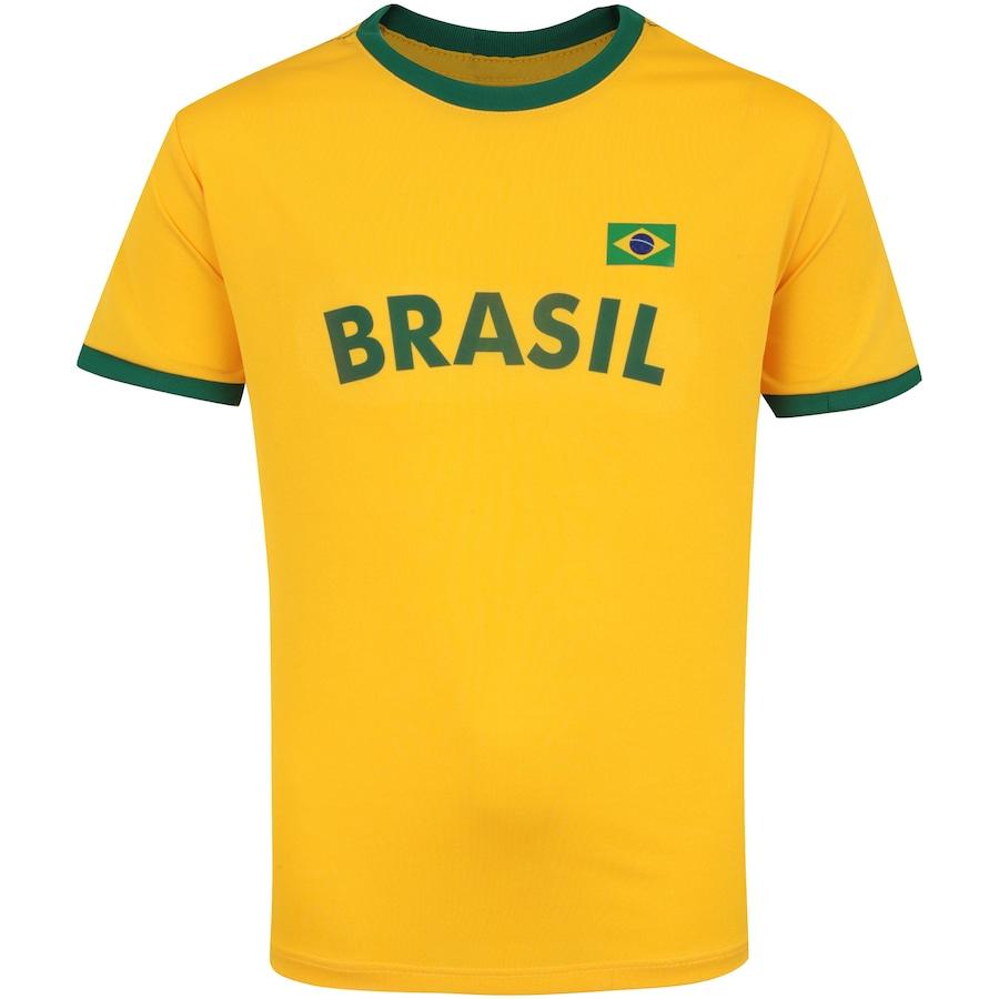 Kit de Uniforme de Futebol do Brasil 2018 Adams  Camisa + Calção - Infantil 5bf22d72eb757