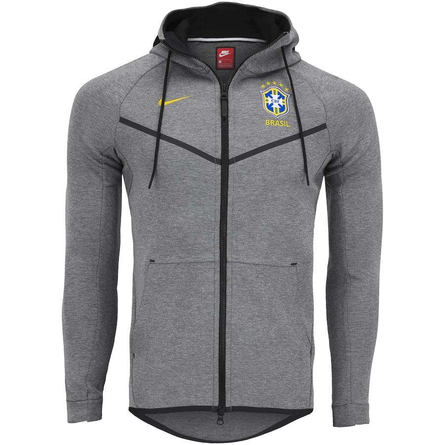 Jaqueta da Seleção Brasileira 2018 com Capuz Nike Sportswear Tech FLC -  Masculina 9d3d1c90b8e3b