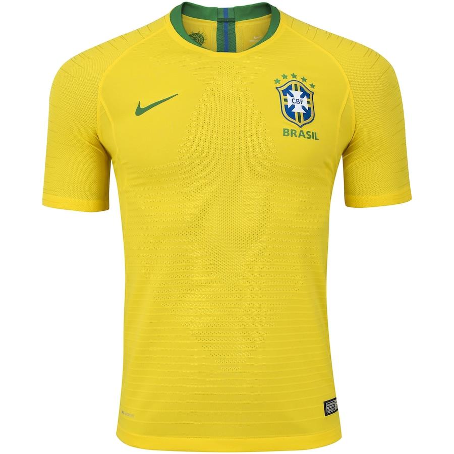 Camisa da Seleção Brasileira I 2018 Nike - Jogador ac55fb6b5bedd