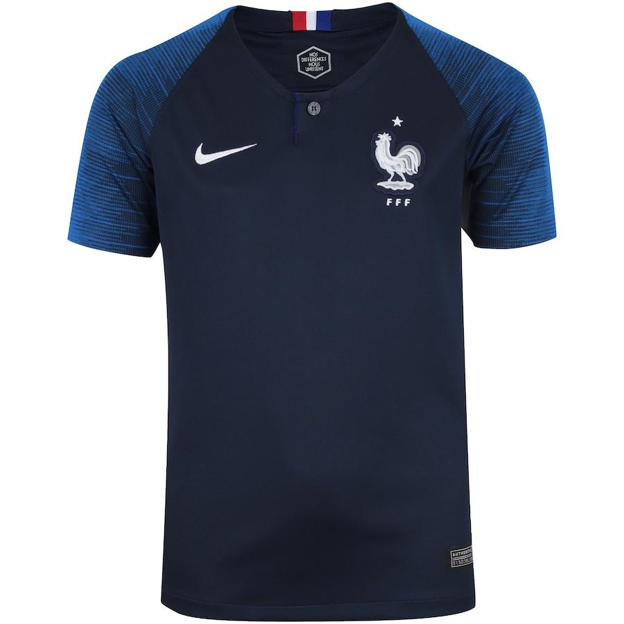 4373efa5ea Camisa França I 2018 Nike - Infantil