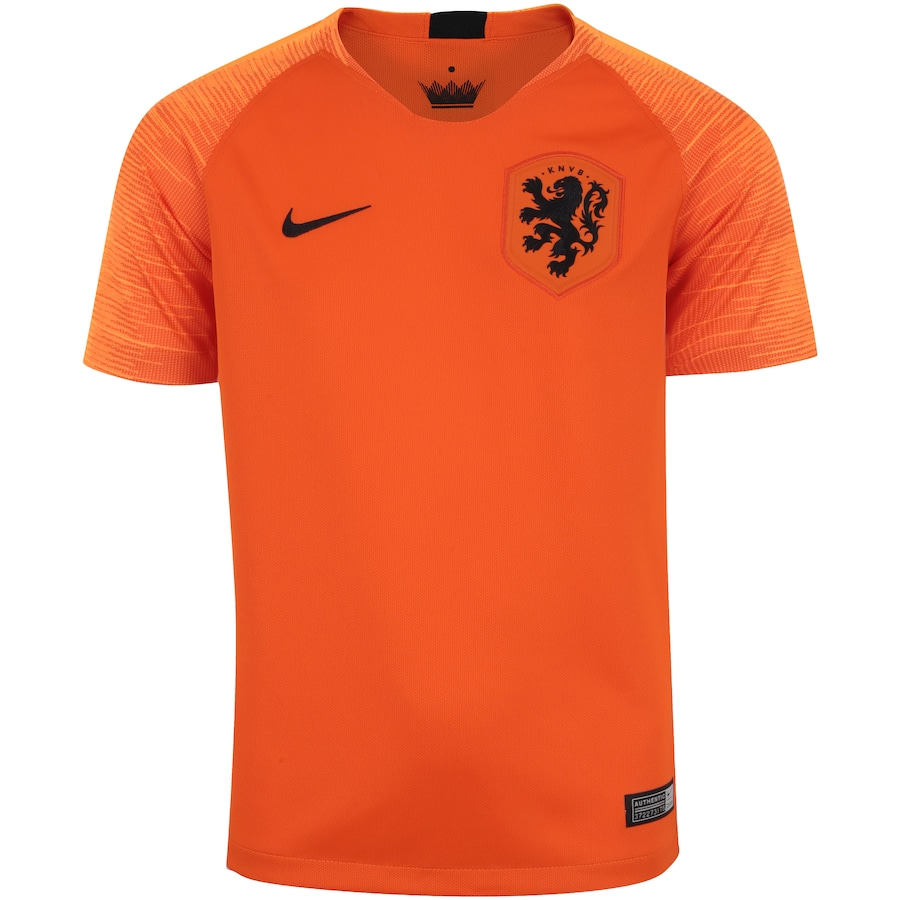 861e056e192 Camisa Holanda I 2018 Nike - Infantil