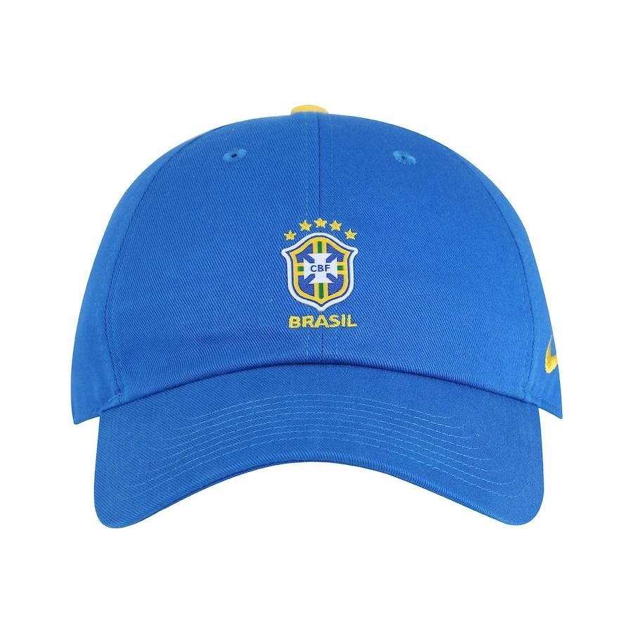 Boné Aba Curva da Seleção Brasileira 2018 Nike H86 Core - Strapback - Adulto 124c17024df