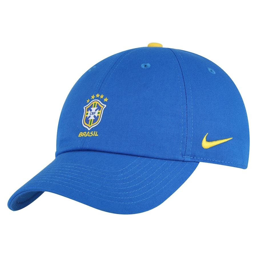 13c5788e84 Boné Aba Curva da Seleção Brasileira 2018 Nike H86 Core - Strapback - Adulto