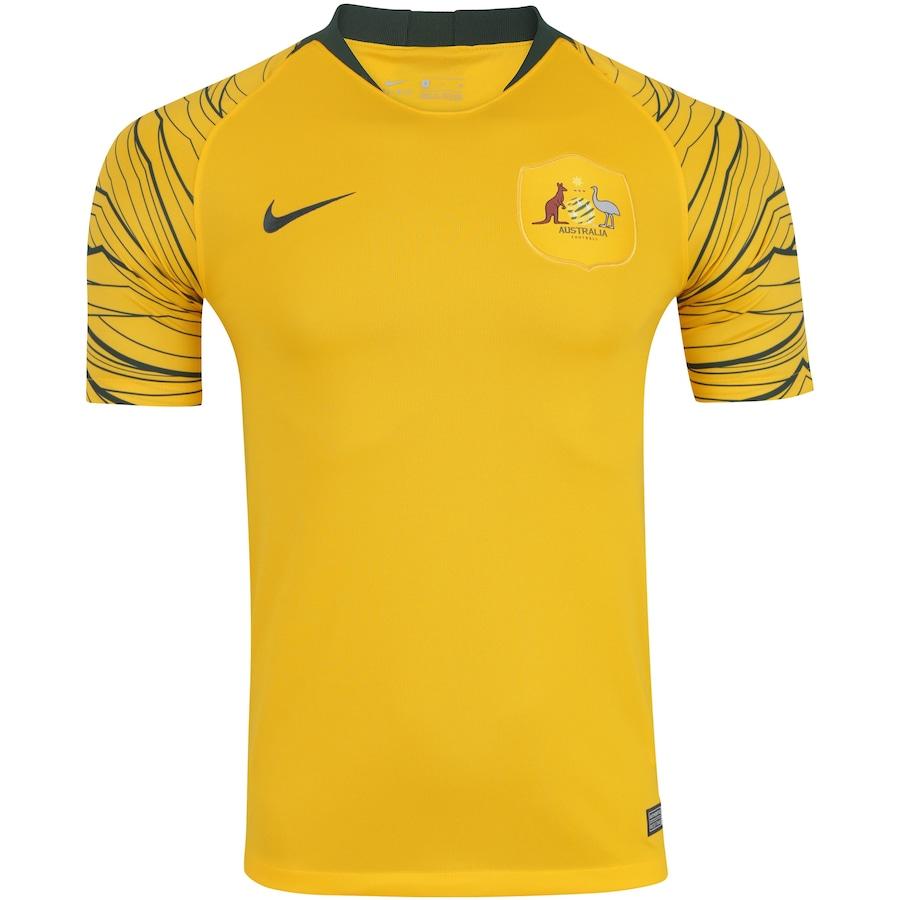 ece266f6a6 Camisa Austrália I 2018 Nike - Masculina