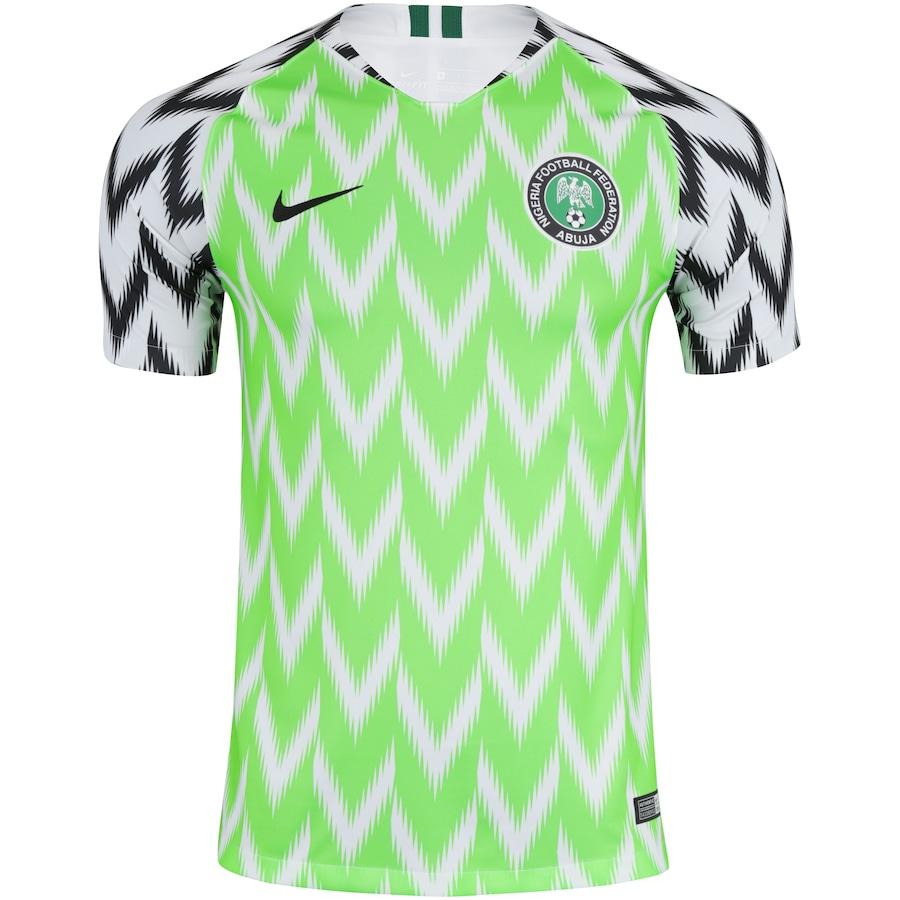 be8ed94bdefdf Camisa Nigéria I 2018 Nike - Masculina