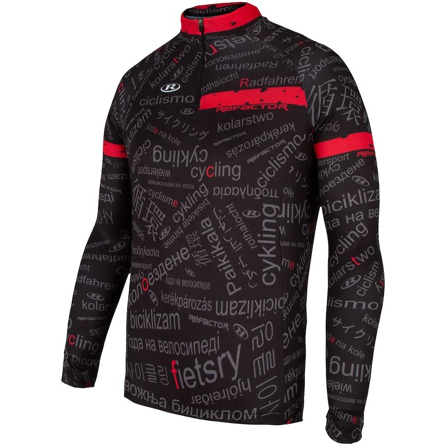 Camisa de Ciclismo Manga Longa Refactor Worldwide - Masculina 767d888decc