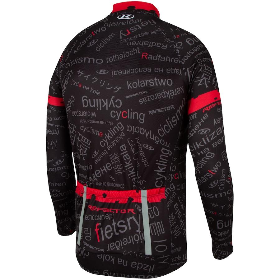 1022e7366a5f3 Camisa de Ciclismo Manga Longa Refactor Worldwide - Masculina