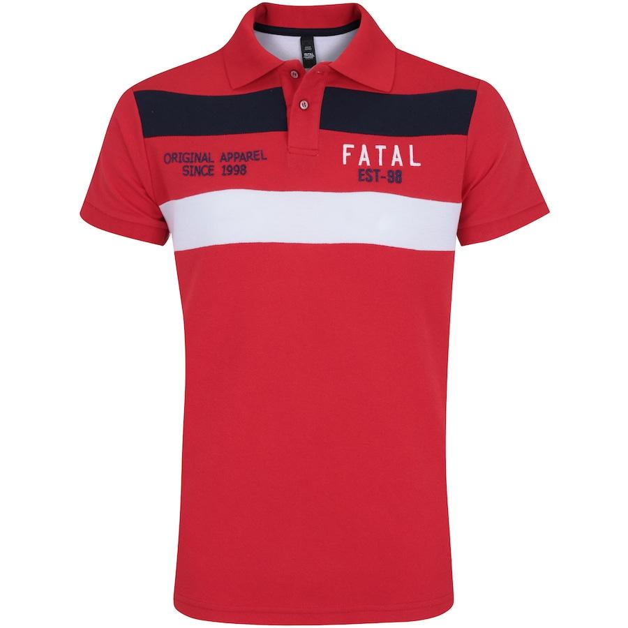 8ad2ce5658 Camisa Polo Fatal Piquet Especial 17013 - Masculina