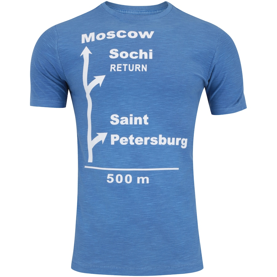 Camiseta Adams À Caminho da Rússia - Masculina 719e5d788e552