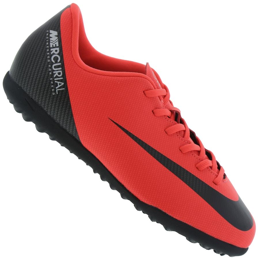 55d639b4365b2 Chuteira Society Nike Mercurial Vapor X 12 Club GS CR7 TF - Infantil