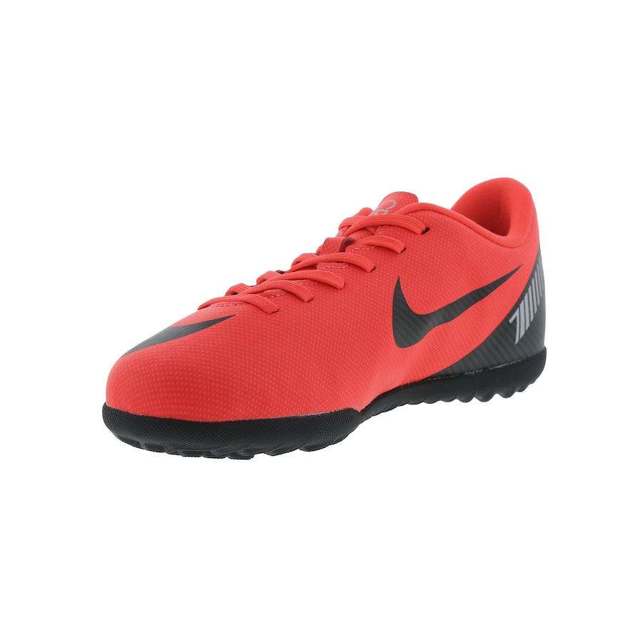 Chuteira Society Nike Mercurial Vapor X 12 Club GS CR7 TF - Infantil 74c97ef11221f