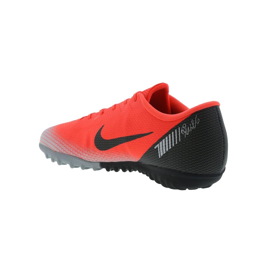 412723cb23 Chuteira Society Nike Mercurial Vapor X 12 Academy CR7 TF - Adulto