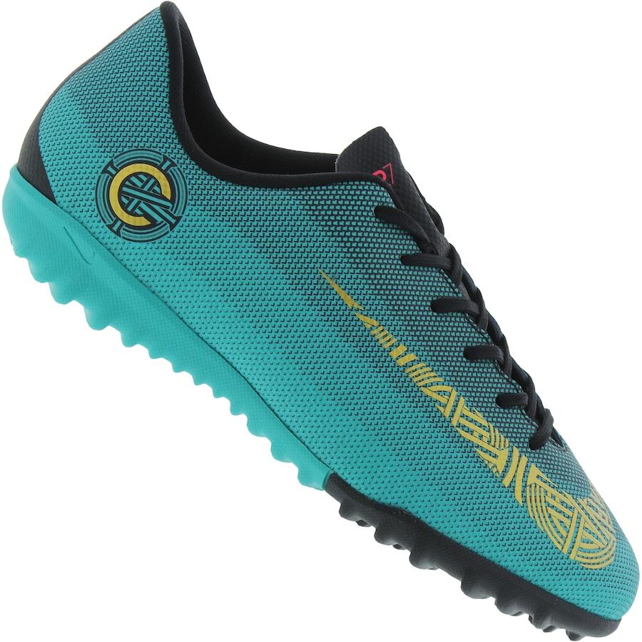 Chuteira Society Nike Mercurial Vapor X 12 Academy GS CR7 TF - Infantil 26cdf31e93951