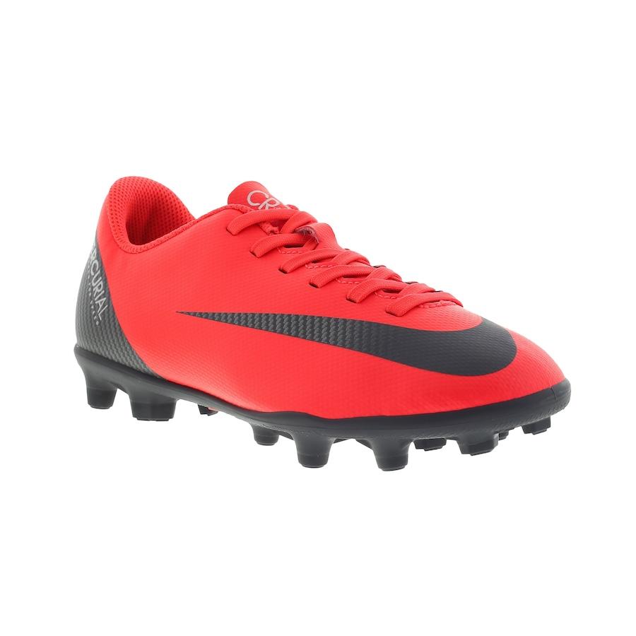 ed78f2a89ec57 Chuteira de Campo Nike Mercurial Vapor 12 Club GS CR7 MG - Infantil