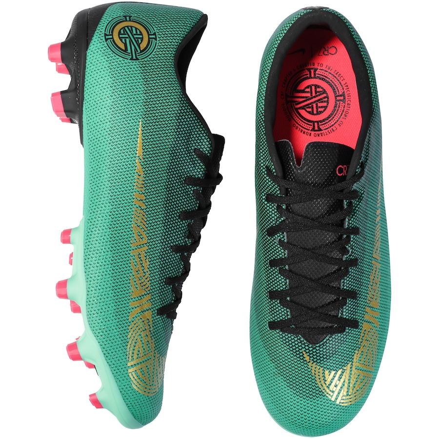 Chuteira de Campo Nike Mercurial Vapor 12 Academy CR7 MG - Adulto 456b6aa15aa6c