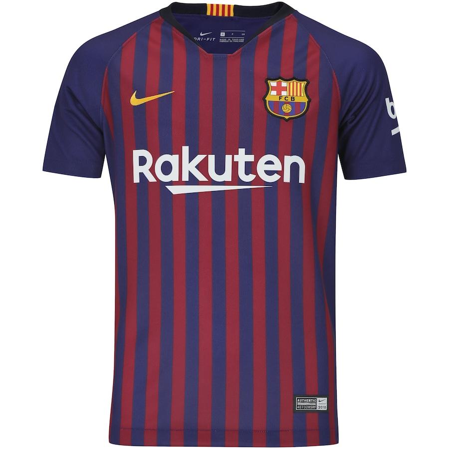 Camisa Barcelona I 18 19 Nike - Infantil 2c248864f37de