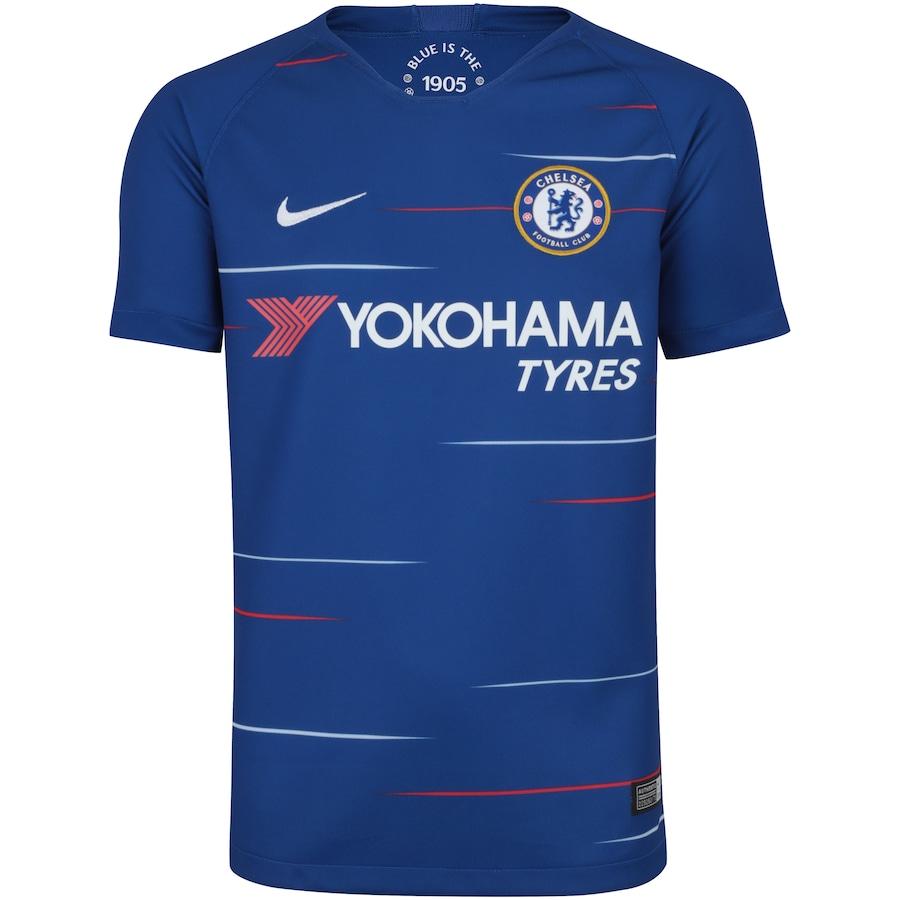 94a38ec30d Camisa Chelsea I 18 19 Nike - Infantil