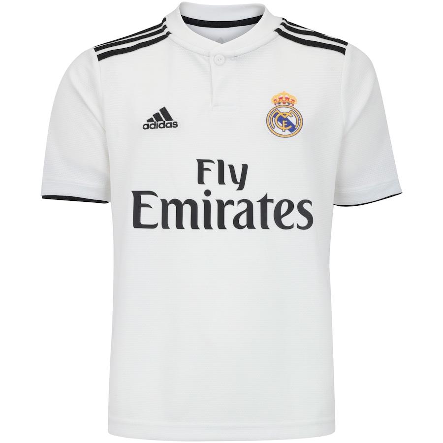 72c279bf77 Camisa Real Madrid I 18/19 adidas - Infantil