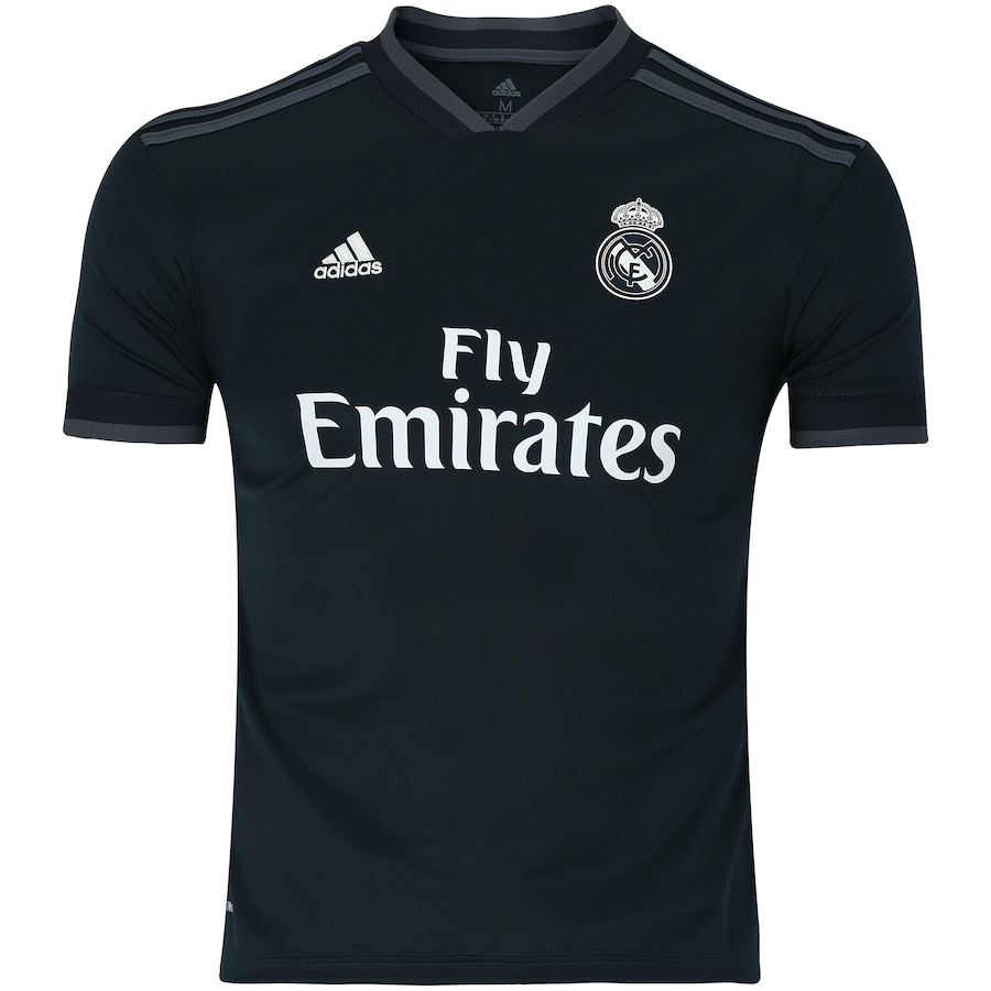 Camisa Real Madrid II 18 19 adidas - Infantil 22104f43112eb