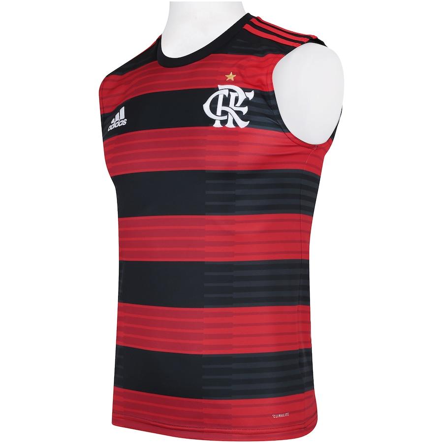 Camiseta Regata do Flamengo I 2018 adidas - Masculina 6a6c3d26193