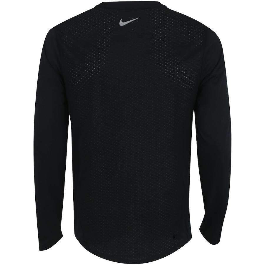 b00d063efcb41 Camiseta Manga Longa Nike Breathe Rise 365 - Masculina