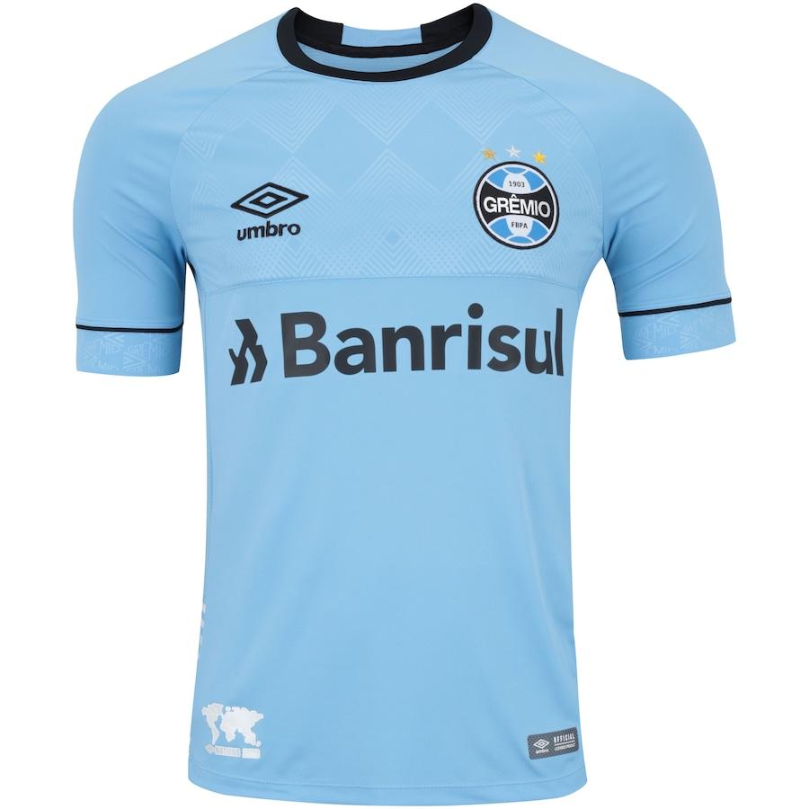 Camisa do Grêmio Nations Charrua Umbro com Patrocínio - Masculina 24883ae6809a6