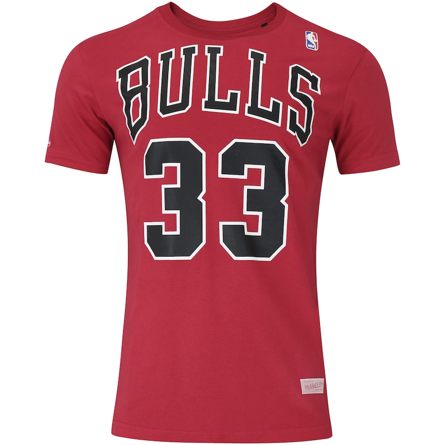 Camiseta Mitchell   Ness Chicago Bulls Name and Number - Masculina a1cbd3007b71e