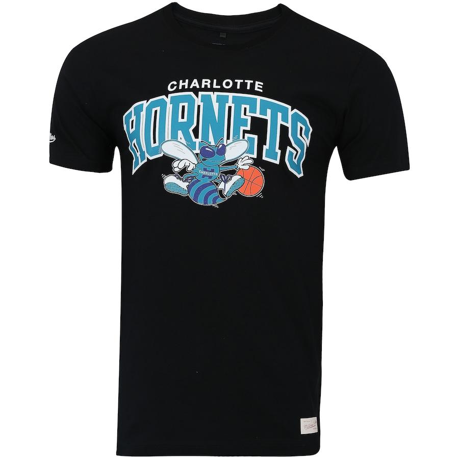 Camiseta Mitchell   Ness Charlotte Hornets Team Arch - Masculina b79c45e6e54