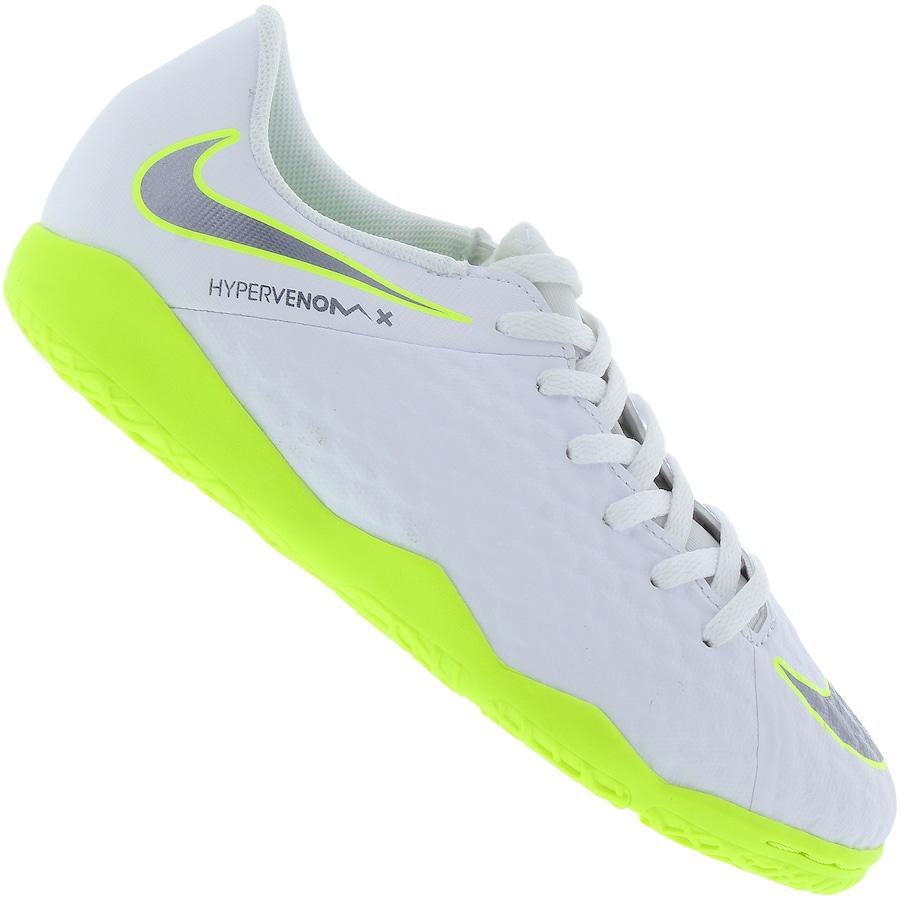 Chuteira Futsal Nike Hypervenom Phantom X 3 Academy IC - Infantil. undefined 24b010ea2b406